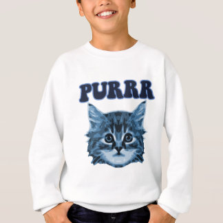 Blue Cat Purrr! Sweatshirt