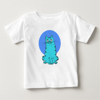 blue cat sweet cartoon kitty baby T-Shirt