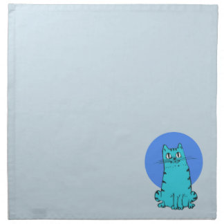 blue cat sweet cartoon kitty napkin