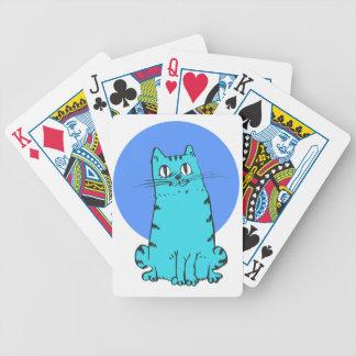 blue cat sweet cartoon kitty poker deck