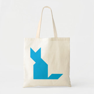 Blue cat Tangram Tote Bag