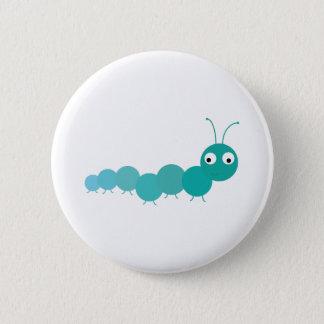 Blue Caterpillar 2 Inch Round Button