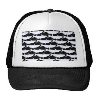 Blue Catfish pattern in Black Trucker Hat