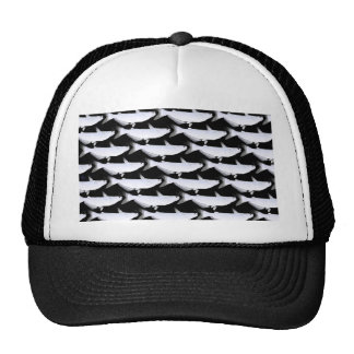 Blue Catfish pattern in Black Trucker Hat