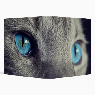 Blue Cat's Eyes Vinyl Binders