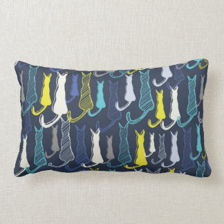 Blue Cats Lumbar Pillow
