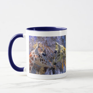 Blue Cave Giraffes Fantasy for Children Mug
