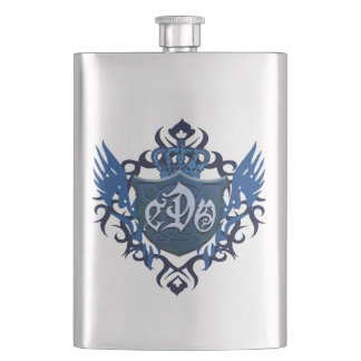 Blue CDO Logo Flask