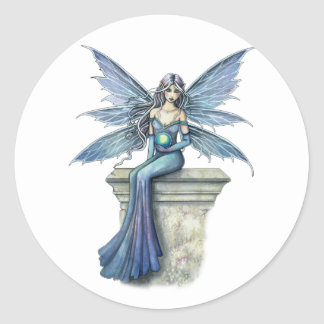 Blue Celeste Fairy Stickers by Molly Harrison