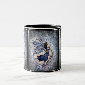 Blue Celestial Fairy Mug by Molly Harrison