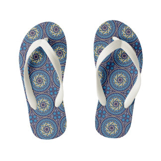 Blue Celtic Kid's Flip Flops