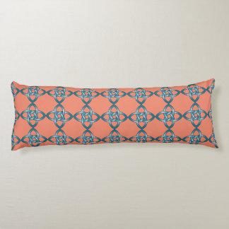 blue celtic knot pillow