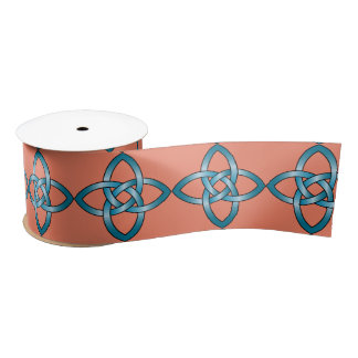 blue celtic knot ribbon satin ribbon
