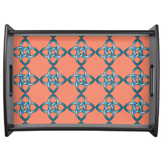 blue celtic knot serving tray