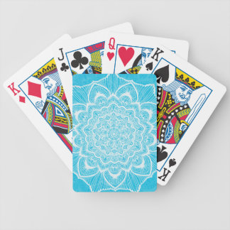 Blue Chakra Blossom, boho, new age, spiritual Bicycle Playing Cards