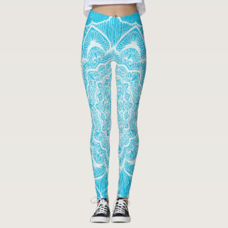Blue Chakra Blossom, boho, new age, spiritual Leggings