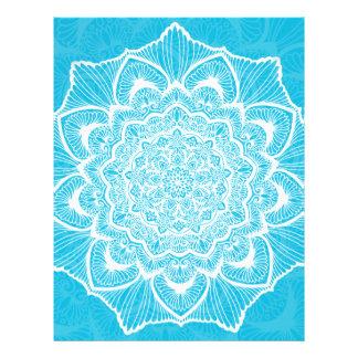 Blue Chakra Blossom, boho, new age, spiritual Letterhead