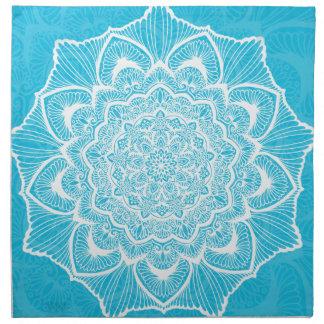 Blue Chakra Blossom, boho, new age, spiritual Napkin