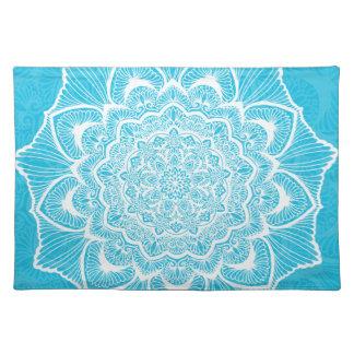 Blue Chakra Blossom, boho, new age, spiritual Placemat