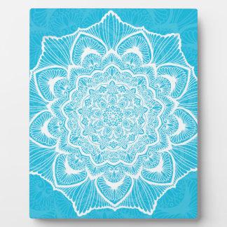 Blue Chakra Blossom, boho, new age, spiritual Plaque