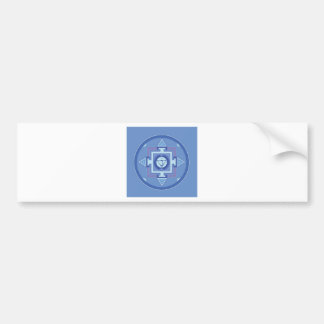 Blue Chakra Mandala Meditation Yoga Energy Bumper Sticker