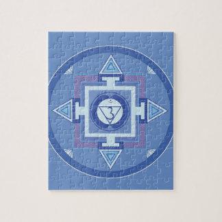 Blue Chakra Mandala Meditation Yoga Energy Jigsaw Puzzle