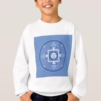 Blue Chakra Mandala Meditation Yoga Energy Sweatshirt