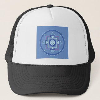 Blue Chakra Mandala Meditation Yoga Energy Trucker Hat
