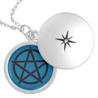 Blue Chakra Pentacle Locket