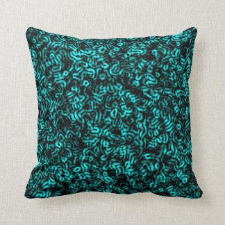 Blue Chaos Dream Throw Pillow