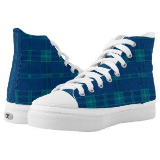 Blue Checker Plaid Shoes