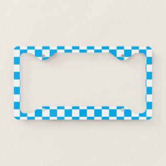 Blue Checkerboard License Plate Frame