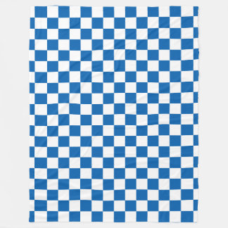 Blue Checkered Fleece Blanket