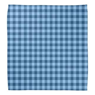 Blue checkered gingham bandana
