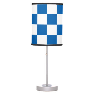 Blue Checkered Table Lamp