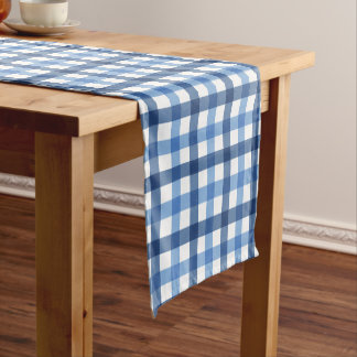 Blue Checks Cottage Charm small Table Runner