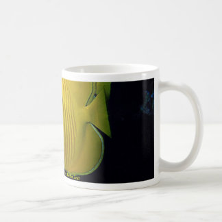 Blue cheed (masked) butterfly fish, Red Sea, Egypt Coffee Mugs