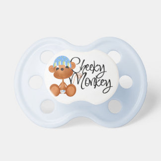 Blue Cheeky Monkey Baby Pacifier
