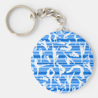 Blue Cheer Silhouette Keychain
