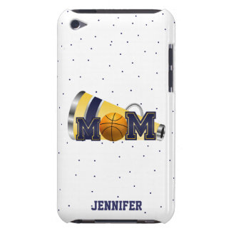Blue Cheering Basketball Mom iPod Touch Case