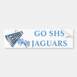 Blue Cheerleader's Team Spirit Bumper Sticker