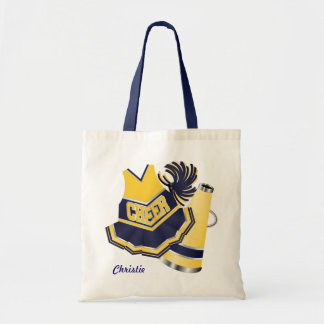 Blue Cheerleading Tote Bag