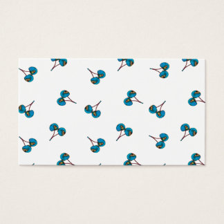 Blue Cherry Pattern Business Card