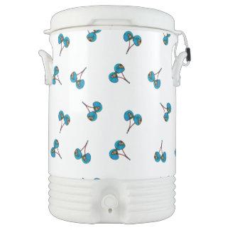 Blue Cherry Pattern Drinks Cooler