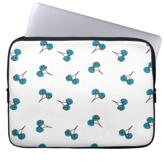 Blue Cherry Pattern Laptop Sleeve