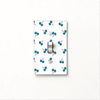 Blue Cherry Pattern Light Switch Cover