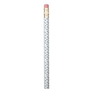 Blue Cherry Pattern Pencil