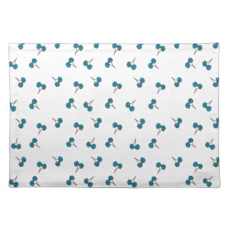 Blue Cherry Pattern Placemat