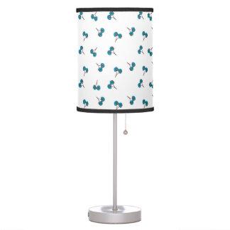 Blue Cherry Pattern Table Lamp