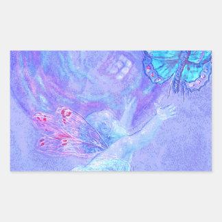 Blue - Cherub Chasing Butterflies
